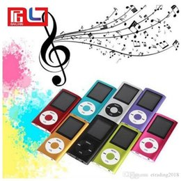 """2019 melhor mp3 player portátil usb Slim 4TH 1.8 """"LCD MP4 Player MP3 Player de música com 2GB de cartão TF iPod"""