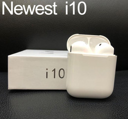 Mic para iphone online-I10 TWS Bluetooth inalámbrico 5.0 Auriculares Auriculares Estéreo Deportes Auriculares Auriculares con micrófono Caja de carga PK I7S I8X I9S venta caliente