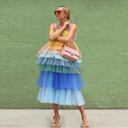 2019 новое многоуровневое платье для выпускного вечера из тюля смешанного цвета, шикарное вечернее платье, платье для особых случаев supplier evening dress mixed color от Поставщики вечернее платье смешанного цвета