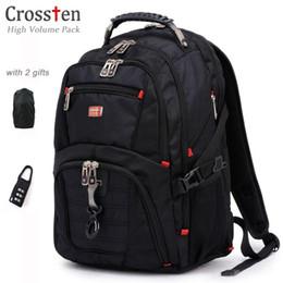2019 hochwertiger laptop-rucksack Crossten Hochwertige multifunktionale wasserdichte Schweizer Taschenmesser Laptop-Rucksack für 17