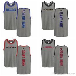 Hacer camisetas personalizadas online-por encargo Baltimore Atlanta Arizona Falcons Cardinals Ravens Pro Line por Fanatics Marca personalizada Respaldo Tri-Blend Tank Top