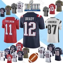 2019 julian edelman jersey Maillot 12 Tom Brady Maillot Patriot 10 Jimmy Gordon 11 Julian Edelman 87 Rob Gronkowski 92 chandails James Harrison promotion julian edelman jersey