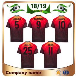 f436c4e7c18c2 2019   25 MULLER Edición limitada camiseta de fútbol 18 19 Naranja EA  Camiseta deportiva LEWANDOWSKI JAMES versión especial Uniforme de fútbol