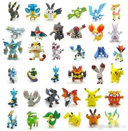 Juegos de juguetes de pokemon online-144 unids / set Pokemon Figuras Juguetes 2-3 cm Multicolor Navidad niños de dibujos animados Pikachu Charizard Eevee Bulbasaur PVC Mini modelo de juguete