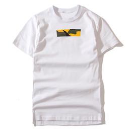 Logo t-shirt on-line-17AW Brooklyn Box Logo T Shirt Branco Cor limitada manga curta camuflagem camiseta homens casal mulheres Moda Skate Tee HFLSTX024