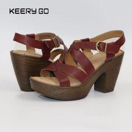 17 yıl yeni high-end deri yüksek topuklu ayakkabılar antik moda zarif sandalet geri yüklemek için rahat ayaklar US6-9 nereden