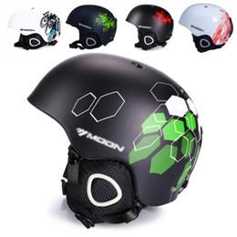 Cascos de seguridad para niños online-MOON Unisex Winter Ski Helmet Casco de esquí moldeado integralmente para adultos y niños Snow Safety Skateboard S-XL 52-64 cm