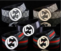 2019 cinturones para hombre de cuero macizo Cinturones de cuero de calidad superior 2019 de los hombres para los pantalones vaqueros Cinturón masculino famoso de la manera logotipo grande hebilla Cintura Casual Cintura Correa