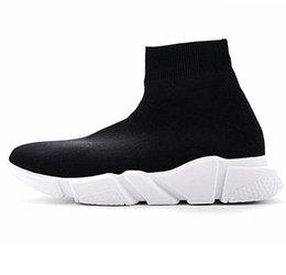 esportes de alta velocidade Desconto Velocidade Sock Sneakers estiramento malha High Top para homens e mulheres Moda Leve respirável Casual Sports Shoes