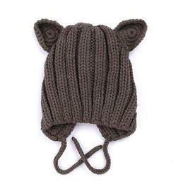 2019 inverno novo bebê tricotar quente earmuffs chapéu infantil de Fornecedores de chapéus de inverno para crianças