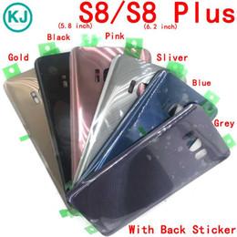 parties de mûre Promotion 10pcs nouveau s8 plus batterie couvercle en verre arrière pour s8 g950 g950f / s8 + g955 g955f logement de la batterie de porte arrière avec autocollant