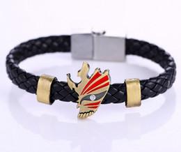 blanchiment du cuir Promotion 10pcs / lot En Gros Animation Alliage Bracelets BLEACH Tissage Bracelet En Cuir Bracelet Cosplay Accessoires Cadeaux
