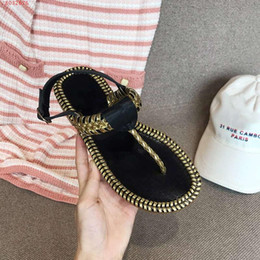Использованные плоские туфли онлайн-Горячие Sale-Women Flat Runner Сандалии, Пномпень Сандалии с пальцами, Женские повседневные пляжные туфли, Размер 35-40