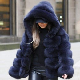 d6e7c9e3509 UPPIN 2018 Winter Thick Warm Faux Fur Coat Women Plus Size Hooded Long  Sleeve Faux Fur Jacket Luxury Winter Coats bontjas