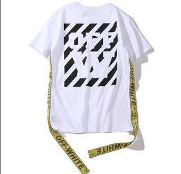 черная белая одежда для хип-хопа Скидка 2019 модный бренд футболки мужчины женщины высокого качества 100% хлопок одежда хип-хоп белый черный печать футболка топ друзья рубашка