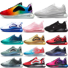 Großhandel Nike Air Max 720 2019 Neue Schuhe Voll Gepolsterte Männer Frauen Neon Dreifach Schwarz Rosa Meer Carbon Grau Sonnenuntergang SONNENAUFGANG