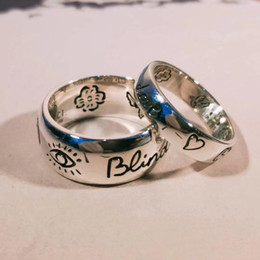 Blind for love 925 sterling silver Eye heart flower bird couple ring K5583 desde fabricantes