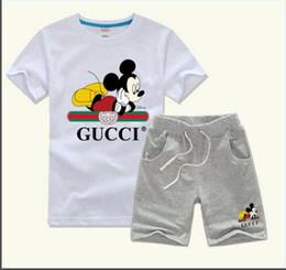 camicie all'ingrosso dell'increspatura del bambino Sconti Del neonato copre gli insiemi di moda i bambini T-shirt per bambini vestiti della ragazza 1-7 anni estate vestito del bambino casuale del vestito 2pcs / set