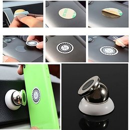 2019 sostenedor magnético del teléfono celular del tablero de instrumentos Universal 360 Grados Mini Car Cell Phone Magnetic Holder Dashboard Sticky Pad para iPhone / Xiaomi / Samsung / Doogee Ball Mount Base rebajas sostenedor magnético del teléfono celular del tablero de instrumentos