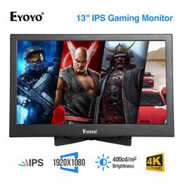 """2019 n box tv Eyoyo 13,3 """"IPS ЖК-мини компьютерный телевизор Дисплей CCTV Экран видеонаблюдения ЖК-мониторы HDMI с HDMI / VGA / Видео Аудио"""