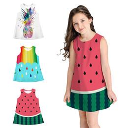618719d30782 Summer kids clothes 3 designs Digital Printed Kids Girls abiti Abito senza  maniche per bambini vestiti firmati ragazze JY55 sconti i bambini stampano  i ...