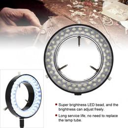 microscopi della lampada Sconti Lampada stereo professionale del microscopio della luce dell'anello per gioielli che riparano strumento di fabbricazione leggero dell'anello della lampada del microscopio dei gioielli LED