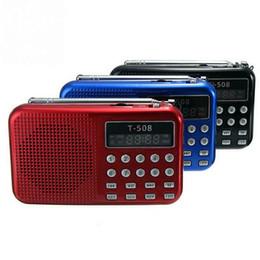 MP3 Интернет Горячие продажи Цифровой FM Micro SD / TF USB-диск MP3 радио ЖК-дисплей Интернет с динамиком RADT508 cheap speaker internet radio от Поставщики диктофон интернет-радио