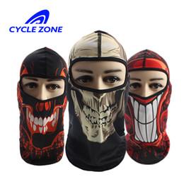 full face skull mask Desconto Balaclava rosto cheio máscara crânio assustador bicicleta rosto escudo da motocicleta respirável ciclismo bicicleta máscara equitação esporte ao ar livre lenço no pescoço