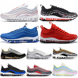 timeless design 68a90 8cd79 Nike Air Max 97 Metallic Pack 97 Steelers JUST DO IT Herren Laufschuhe  Fichte Aura Rainbow Premium Gym Rot 97s Herren Damen Sneaker Sport Sneakers  36-45