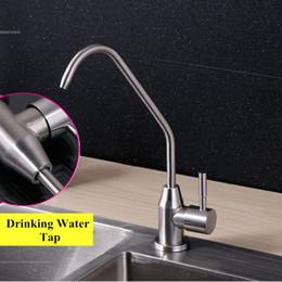 Torneira torneira água potável on-line-Cozinha SUS 304 Torneiras de Filtro de Aço Inoxidável Puro Torneira de Água Potável Único Punho Sem Chumbo RO Bebida