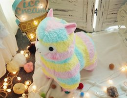 Super niedlich gefüllte tiere online-Nette Tierregenbogenalpaka-Großhandelspuppe super weiches Plüschtierweihnachts- und -geburtstagsgeschenk für Kinder DHL