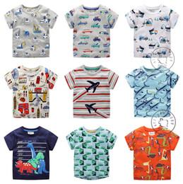 2019 chemises de voiture en gros 2019 Summer Boys T-shirts Coton Tops Tees Cartoon Cars Garçons vêtements Manches courtes 2T 3T 4T 5T 6T 7T Gros En stock chemises de voiture en gros pas cher