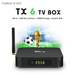 Canada 2019 rentable TX6 H6 Quad core 4 Go de RAM 32G Android 9.0 TV Box 2.4G 5G WiFi Bluetooth Lecteur multimédia Offre