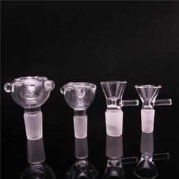 Tigelas de tubulação de água on-line-14mm 18mm Herb Slid Dab Pieces Tigelas De Vidro Tigela Tigelas de Tabaco Tigelas De Tabaco De Cinzas Secas para Bongos De Vidro Tubo De Água Dab Rig