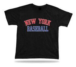 2019 blaues baseball t-stück New York BASEBALL T-Shirt T-Stück rot weiß blau NY Sommerkleid Feld Design Männer Frauen Unisex Mode T-Shirt Freies Verschiffen schwarz günstig blaues baseball t-stück