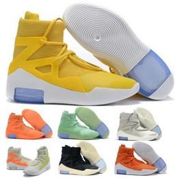 licht tan stiefel frauen Rabatt Mit Box FOG Fear of God 1 Stiefel Fashion Designer Schuhe FOG Outdoor Stiefel Schwarz Grau Weiß Zoom Sneakers Größe 5-12 versandkostenfrei