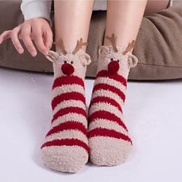 Calzini Fuzzy Pantofole Fluffy Indiani Colorati per Donna, Animali Svegli 3D Calzini Fuzzy Caldi Crew Winter Value Pack TC181129W da