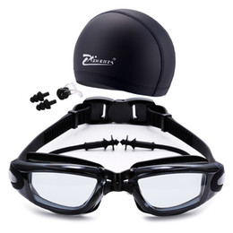 Occhiali antifog online-Occhialini da nuoto Cap Nose Clip Tappi per le orecchie 2 tipi per adulti uomo donna occhiali da nuoto occhiali protezione antifog