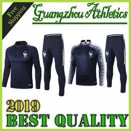 star lavender Promo Codes - New 2018-2019 2 STAR survetement equipe MAILLOT DE FOOT France Paris SURVETEMENT FOOTBALL Tracksuits Training Suits