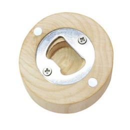 Круговые магниты онлайн-Новые деревянные круглые открывалка для бутылок чашки коврик холодильник магнит украшен открывалка для бутылок пива кухня столовая инструменты на заказ логотип