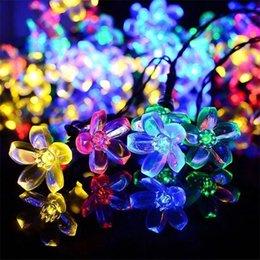 2019 luzes da flor da cereja Levou Flores De Cerejeira Luzes Da Corda À Prova D 'Água Dia De Natal Decoração Do Jardim Luz Colorida Popular Criativo Venda Quente 20zcc J1 luzes da flor da cereja barato