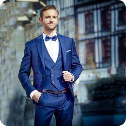 e1f024305c4 Handsome Groomsmen Peak Lapel Groom Tuxedos Mens Wedding Dress Man Jacket  Blazer Prom Dinner 3 Piece Suit(Jacket+Pants+Tie+Vest) AA109