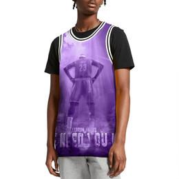 gilet viola Sconti LeBron James 23 Abbiamo bisogno del tuo re gilet da basket viola 100 gilet di cotone stampato