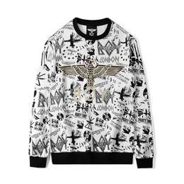 2019 männer junge london hoodie Boy London Designer Hoodies Mens-Qualitäts-Eagle-Druck-Sweatshirts Langarm Luxuxmann Frauen oder Paare Pullover Weiß rabatt männer junge london hoodie