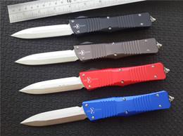 """Couteaux marfione en Ligne-Microtech Marfione sur mesure Combat Troodon Couteau Recurve aluminium 6061-T6 (3,8"""" en satin à la main) acier CNC D2 ordinaire couteaux tactique w / gaine en nylon"""