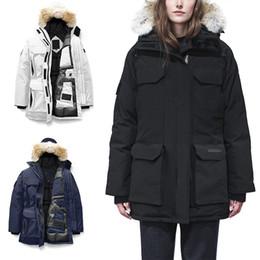 2019 le donne lunghe di puffer lungo Fur di inverno delle donne cappotti 2020 Canada EXPEDITION Stilisti di lusso del soffiatore Donne Giù cappotto lungo parka trincea caldo nord Doudoune Femme le donne lunghe di puffer lungo economici