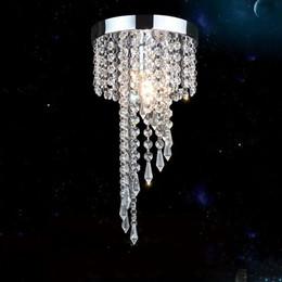 Lampada da soffitto in cristallo dorato chiaro online-cromo moderna / illuminazione lampadario di cristallo Golden Lustre LED apparecchio a sospensione Cristalli plafoniera lampadario lampadari avizeler