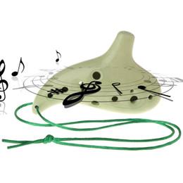 professionelle okarina Rabatt Professionelle 12 Löcher Alto D Keramik Ocarina Musikinstrument Geschenk