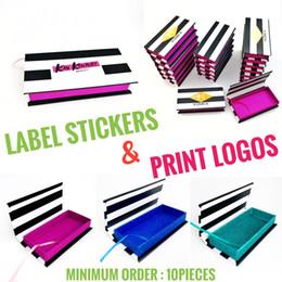 Grüne 3d fall online-Kundenspezifisches Logo * (lila / Grün / Blau) Rechteckige Zebra-Streifen falsche Wimpern Verpackung Box 3d 25mm Nerz Lash magnetischen Fall Anpassbare DHL Kasten