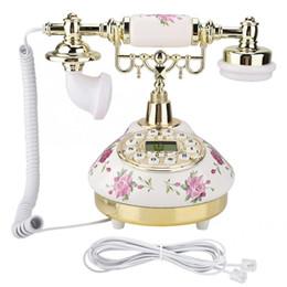 2019 téléphone de bureau vintage MS-9101 Vintage Retro Imitation Antique Phone pour les anciens téléphones téléphone de bureau vintage pas cher